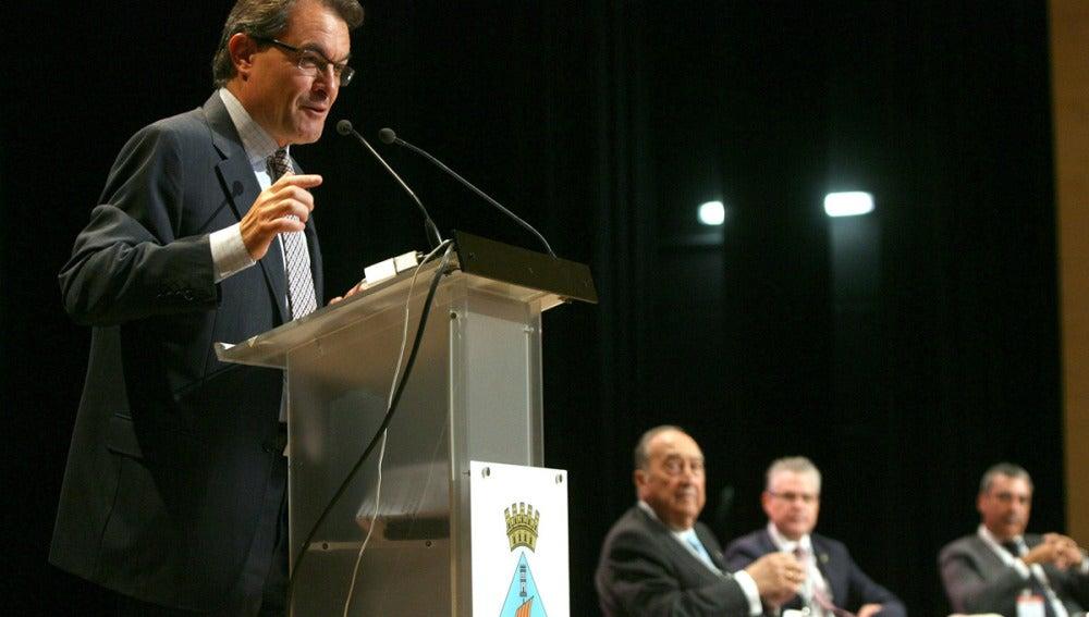 Artur Mas, en un acto público