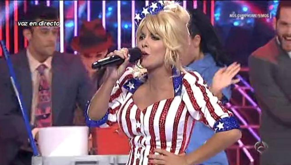 Lorena Castell imita a Dolly Parton