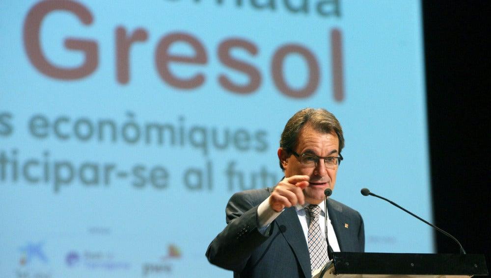 Artur Mas, en una conferencia en Salou