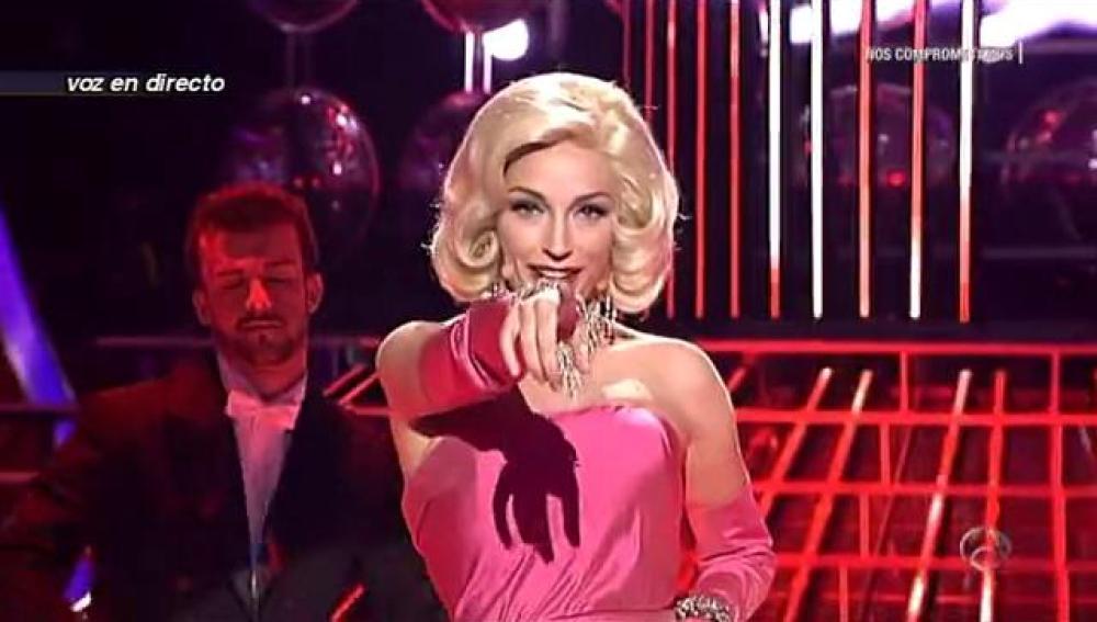 Anna Simon se mete en la piel de Marilyn Monroe en 'Tu cara me suena'