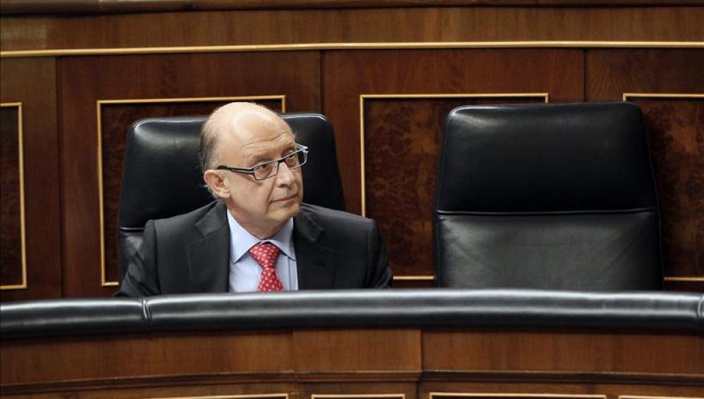 Cristóbal Montoro, durante el debate de los Presupuestos