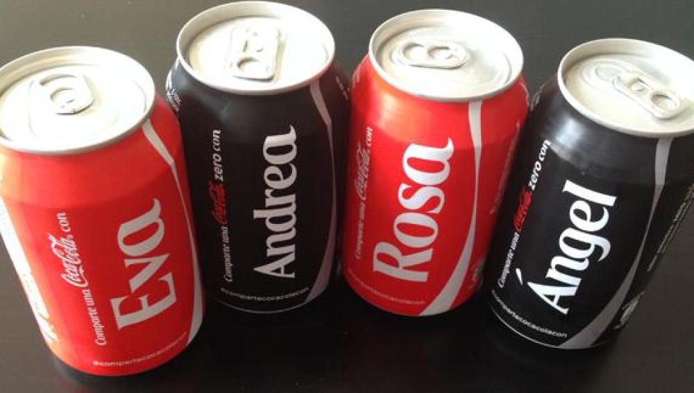 Latas de Coca-Cola personalizadas