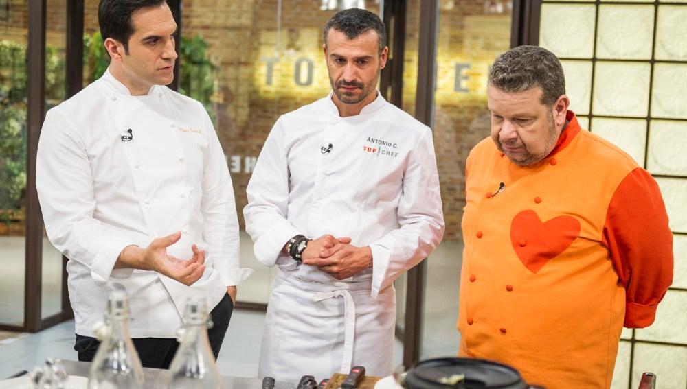 Mario, Antonio y Chicote