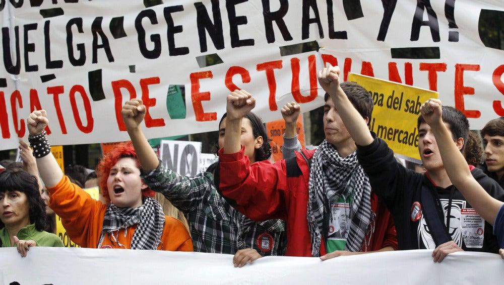 Huelga de educación en Madrid