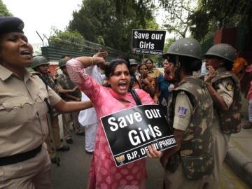 Protesta por las violaciones en la India