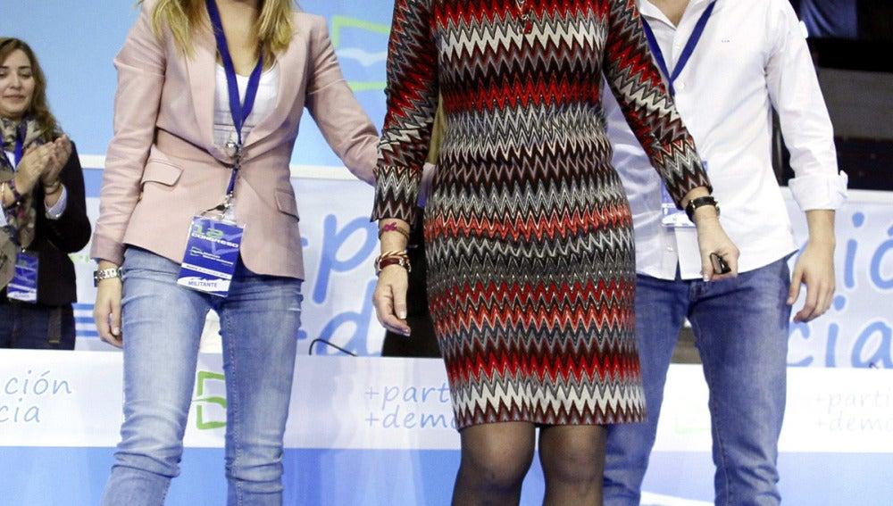 Esperanza Aguirre con Nuevas Generaciones