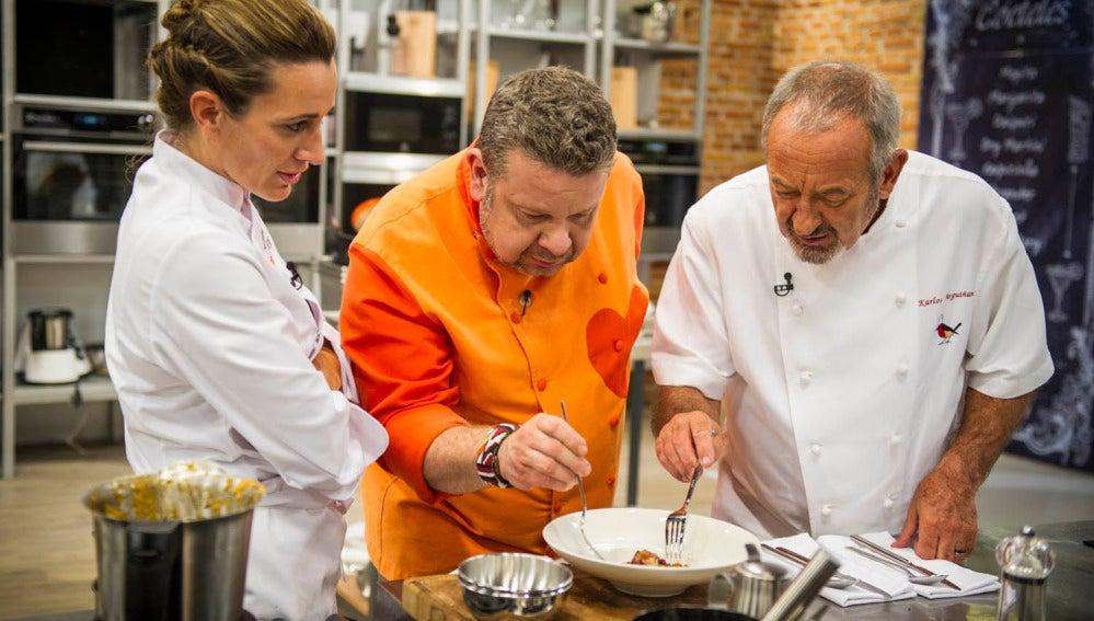 Karlos Arguiñano visita 'Top Chef'