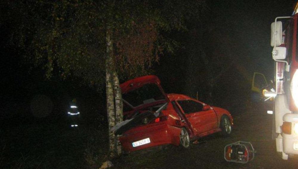 Accidente ocurrido en Ordes (La Coruña)