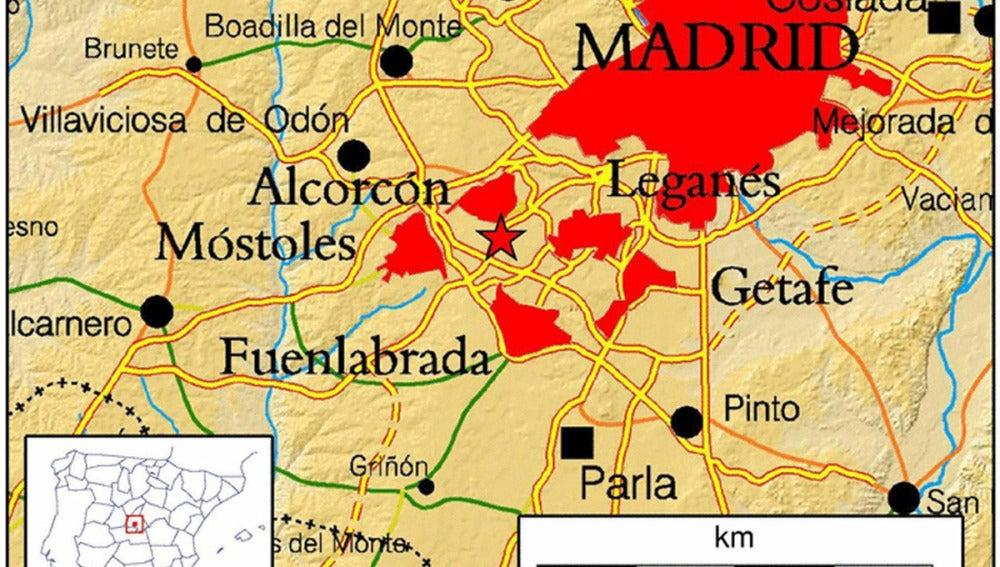 Mapa de la Comunidad de Madrid