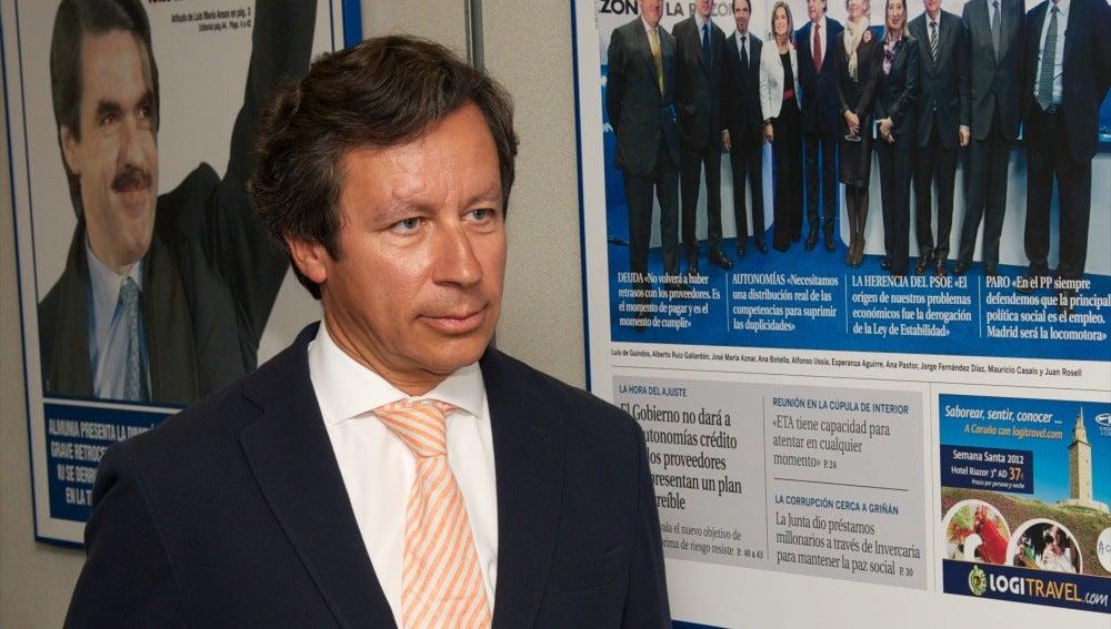 Carlos Floriano en la sede del PP