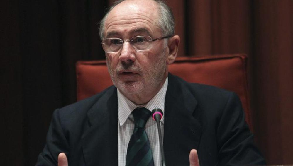 Rato comparece en el parlamento catalán ante la comisión de la banca