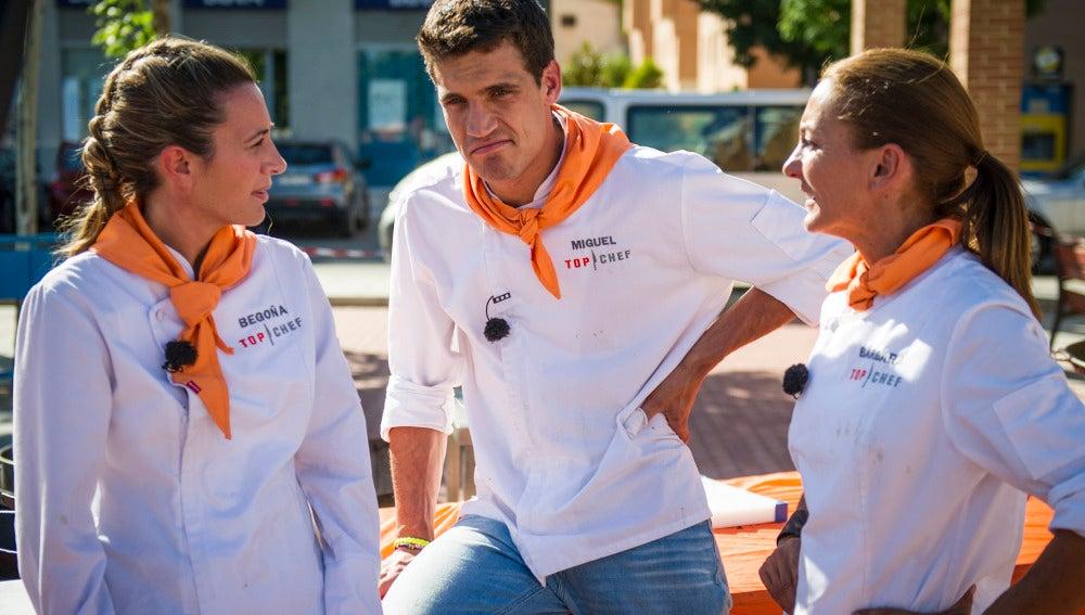 Begoña, Miguel y Bárbara