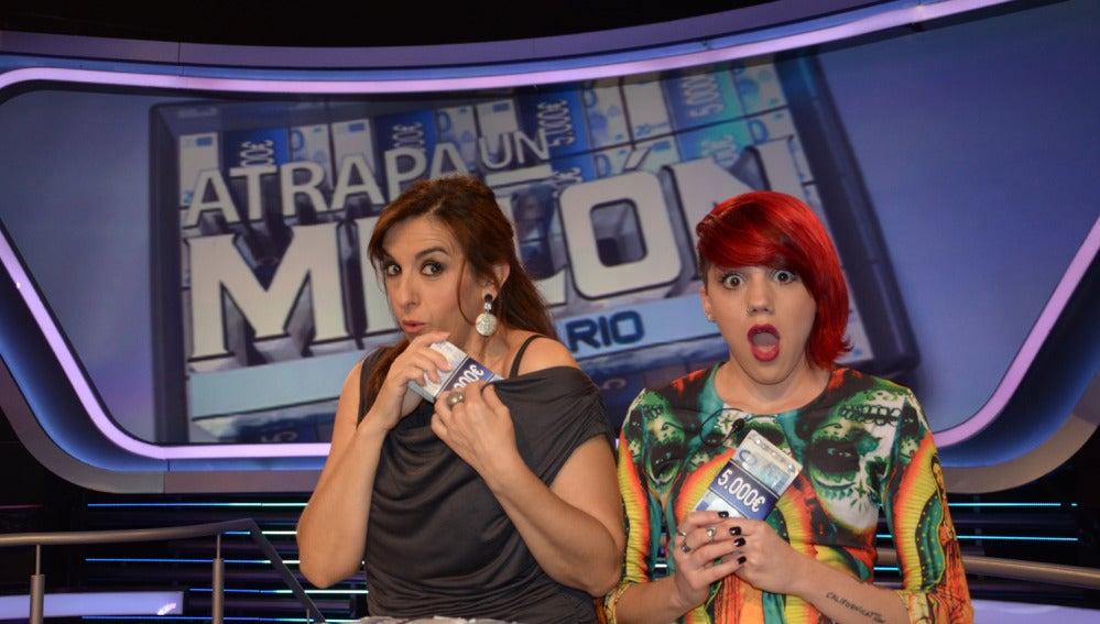 Llum Barrera y Angy Fernández en Atrapa un millón