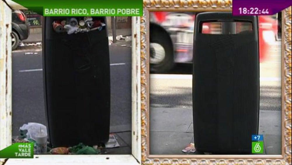 La huelga de basuras sí entiende de barrios