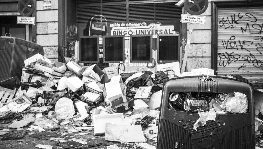 Huelga de basura, en Madrid