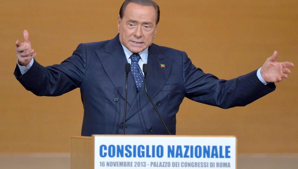 Berlusconi, en un discurso