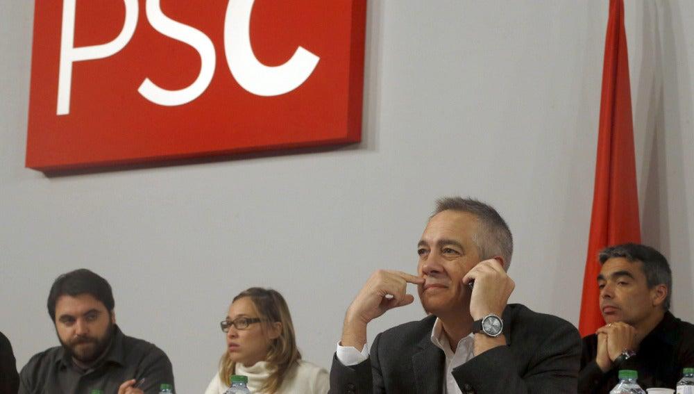 Pere Navarro en el Consell Nacional del PSC