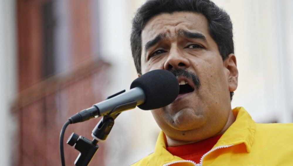 Nicolás Maduro en una rueda de prensa