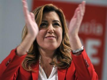 Susana Díaz, durante la clausura del congreso del PSOE-A