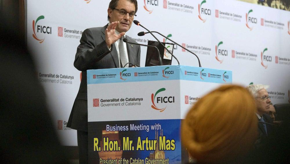 Artur Mas en un acto oficial