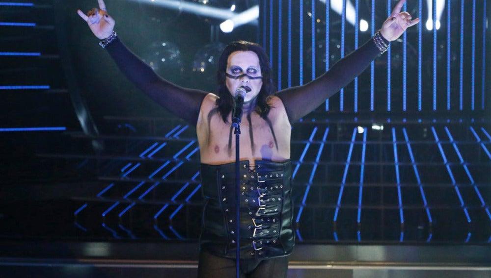 Florentino Fernández imita a Marilyn Manson en Tu cara me suena