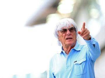 Bernie Ecclestone, en el trazado de Marina Bay