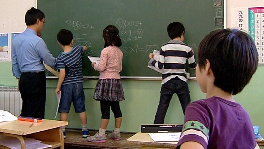 Alumnos de un colegio japonés en España