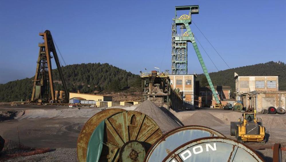 Exteriores de la mina de Iberpotash en Súria (Barcelona)