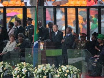Ban ki-moon durante su intervención en el funeral
