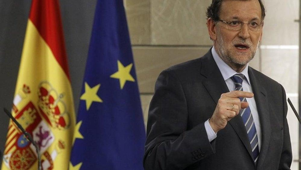 Mariano Rajoy en la Moncloa.