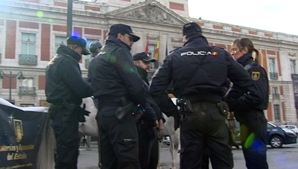 La Policía, en Madrid