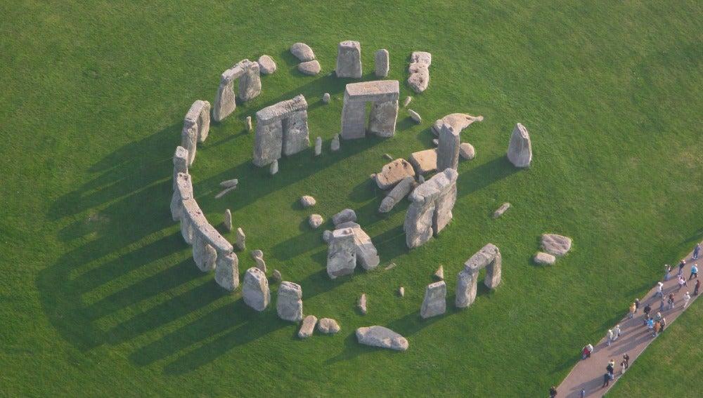 Imagen aérea del monumento de Stonehenge, en el condado de Wiltshire (Inglaterra)