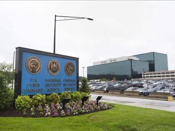 Entrada a la sede de la NSA