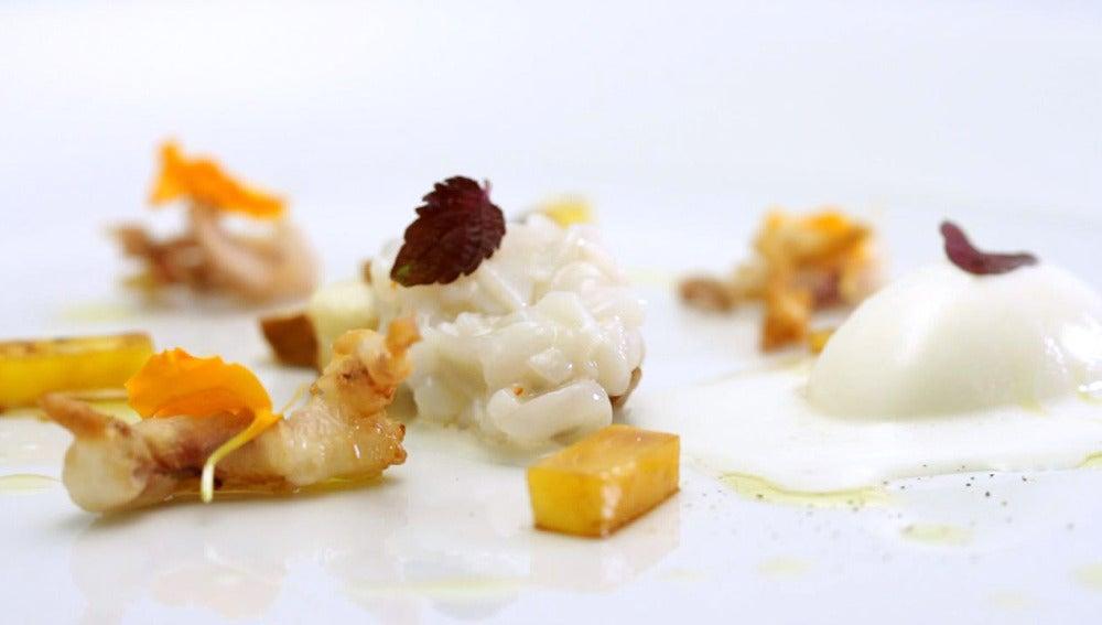 Tartar de chipirón con cítrico