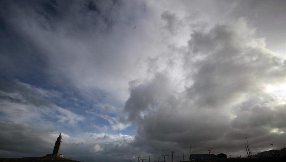 Cielo cubierto en A Coruña