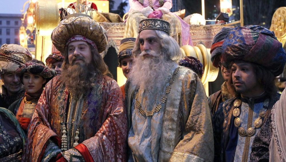 Los Reyes Magos en la Plaza de Cibeles