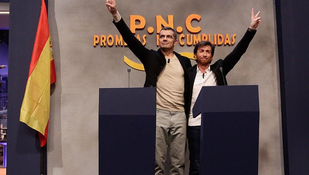 Toni Cantó y Pablo Motos
