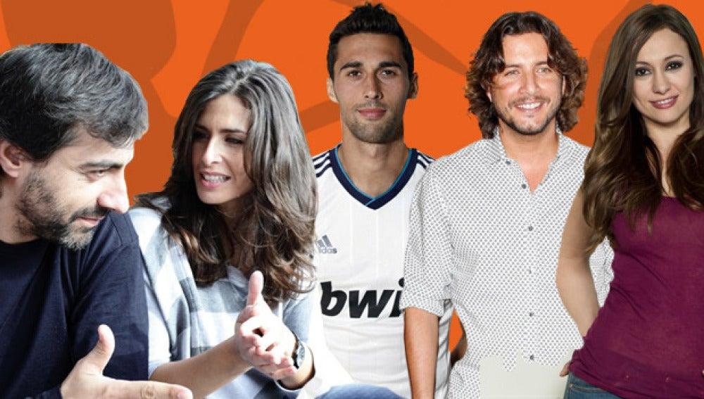 Natalia Verbeke, Manuel Carrasco, Álvaro Arbeloa, Nuria Roca y Juan de Val