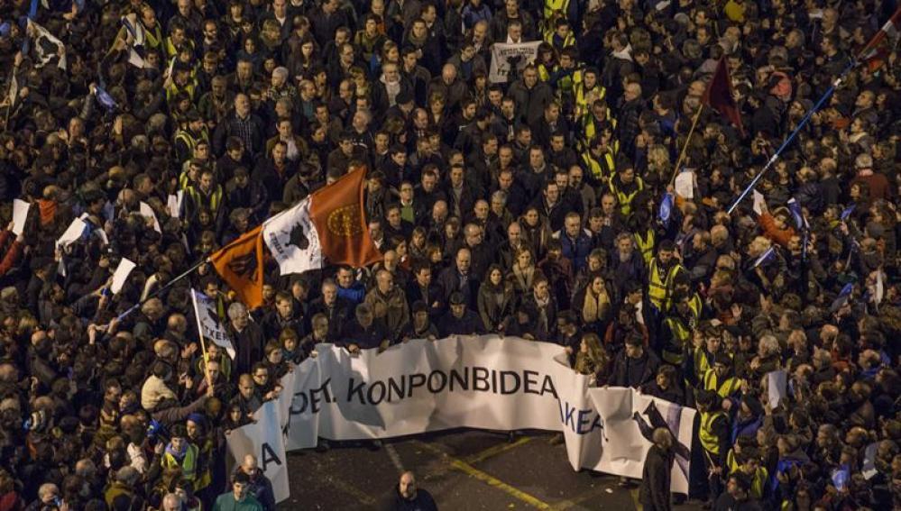 Vista general de la manifestación silenciosa