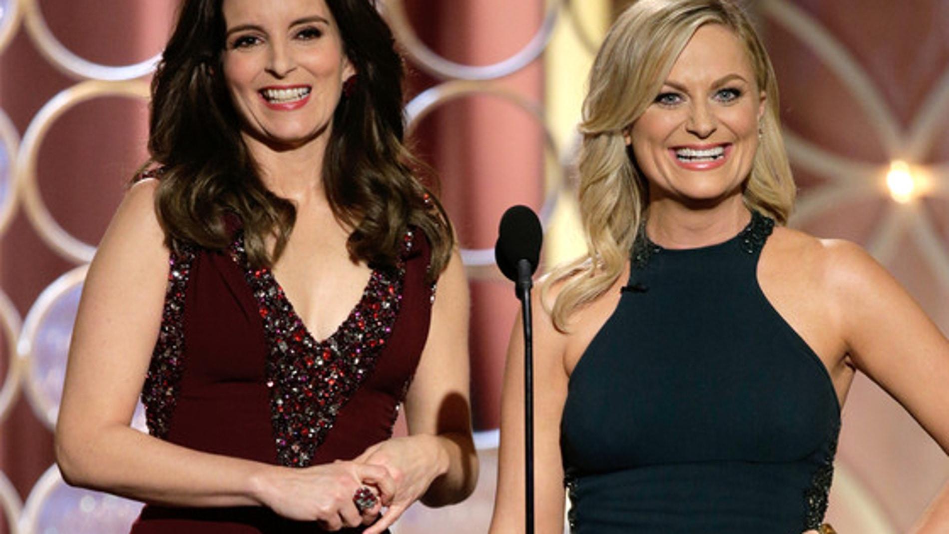 Tina Fey and Amy Poehler presentando la gala de los Globos de Oro 2014