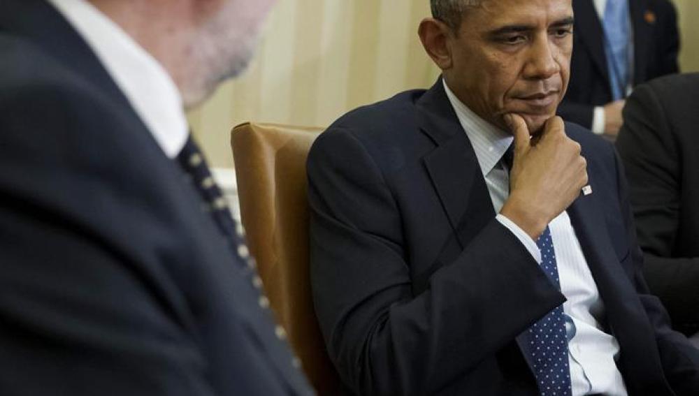 Obama y Rajoy en la reunión