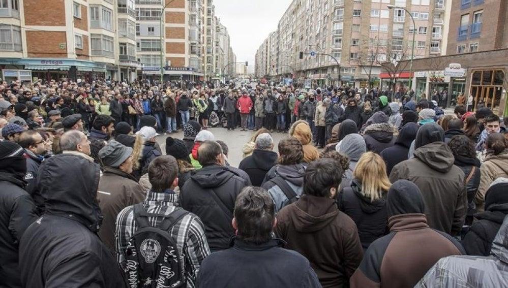 Concentración en Gamonal (Burgos).