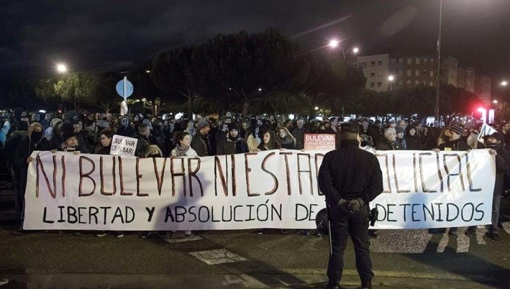 Disturbios en la noche de Burgos.