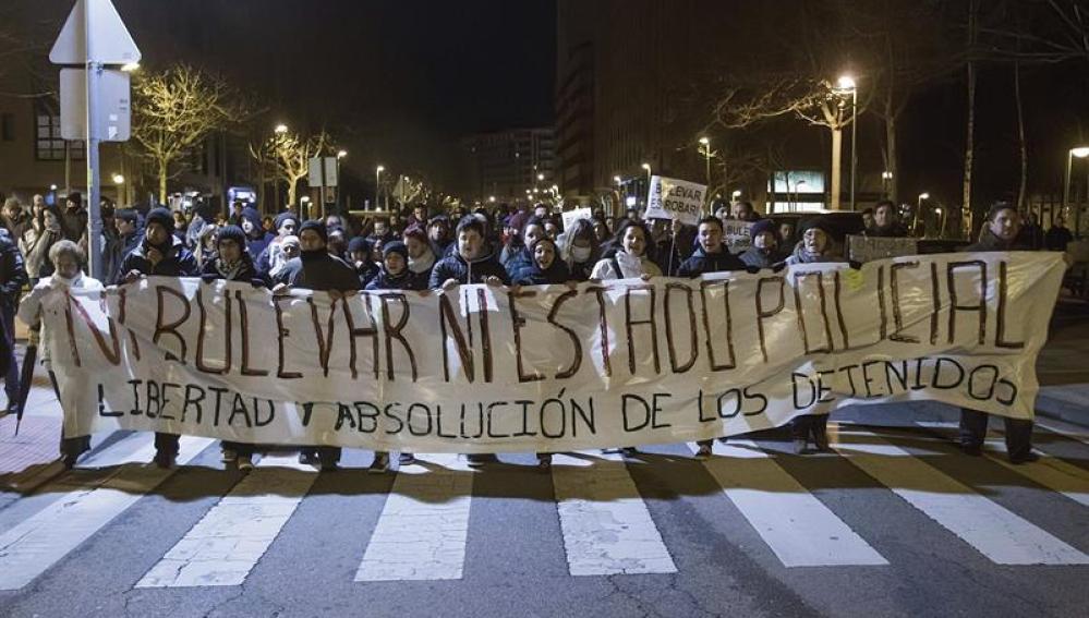 Nueva manifestación de los vecinos del barrio de Gamonal