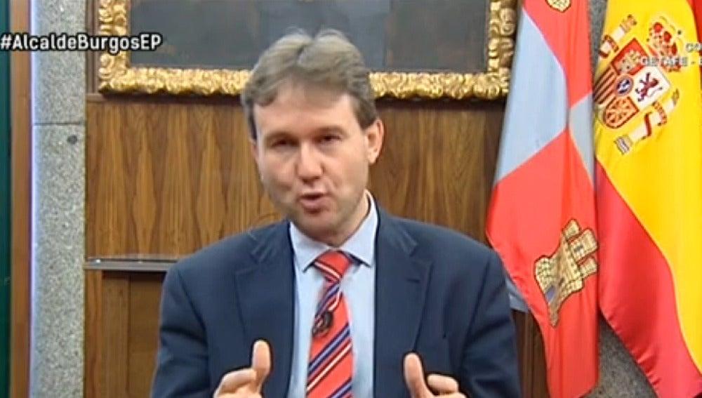 Javier Lacalle, alcalde de Burgos
