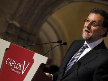 Mariano Rajoy en los Premios Carlos V