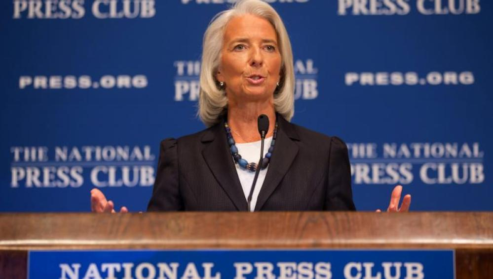 Lagarde en el National Pres Club