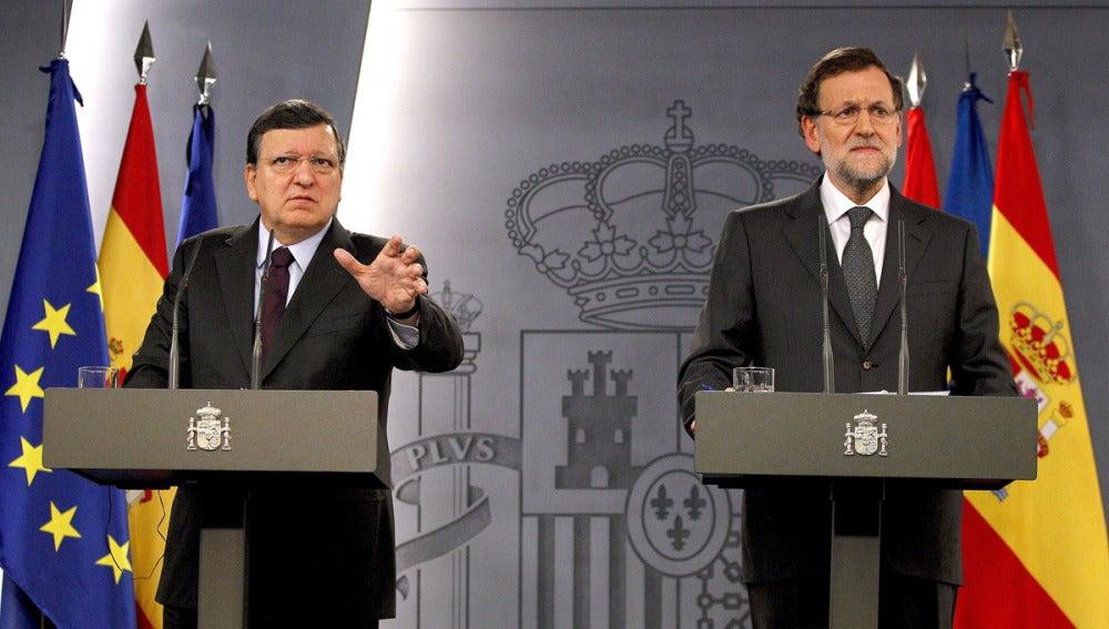 Rueda de prensa de Rajoy y Barroso en Moncloa