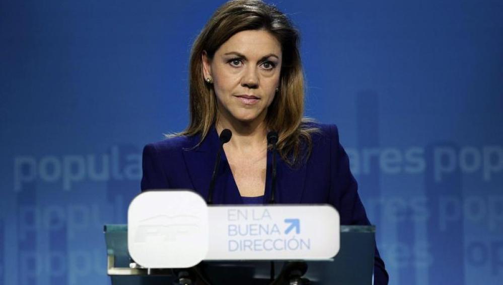 """Cospedal dice que es bueno que el PSOE tenga """"las cosas tan claras"""" sobre Cataluña"""