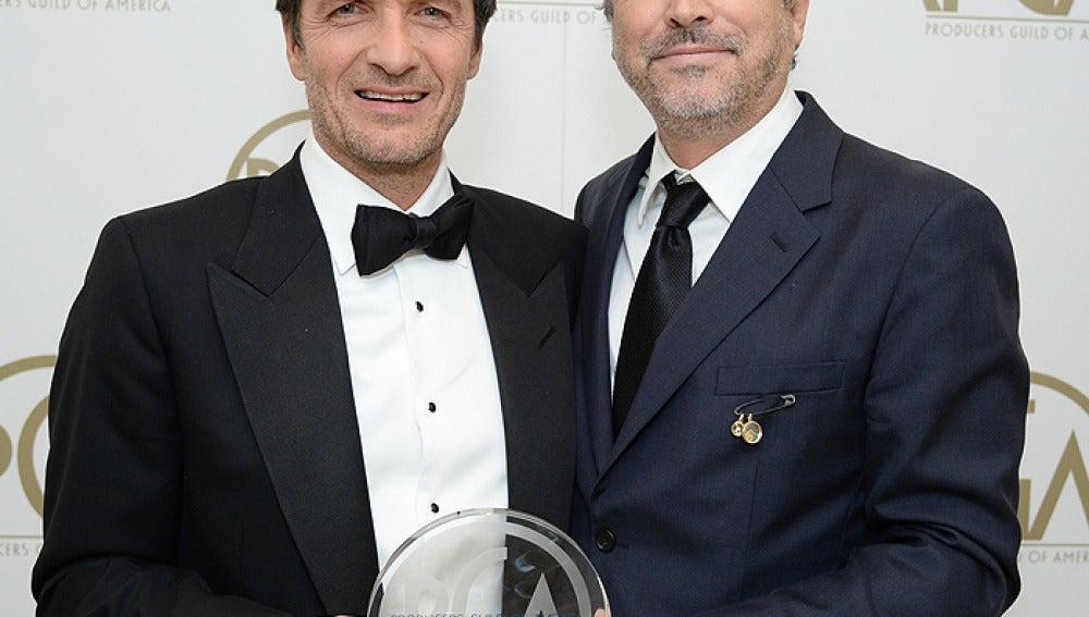 David Heyman y Alfonso Cuaron, productores de 'Gravity'